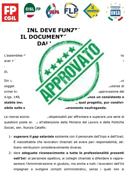 DOCUMENTO APPROVATO ALL'ASSEMBLEA NAZIONALE DEL 13/12/2019